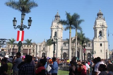 Plaza de Armas, coração do Centro Histórico de Lima